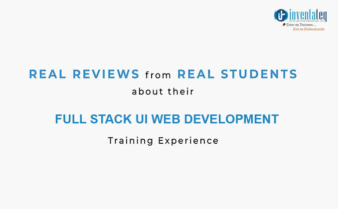 ui developer Training in Bangalore with JOB Support